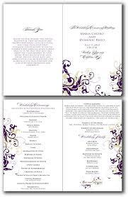 Printable Wedding Programs 9 Best Images Of Free Printable Wedding Programs Free Printable