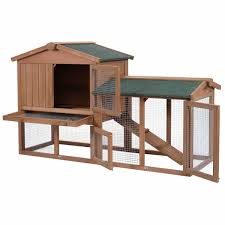 pawhut wooden backyard slant roof hen house chicken coop the