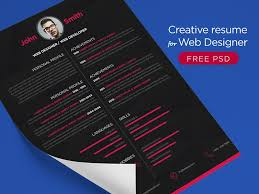 Resume Format For Web Designer 29 Fresh Resume Templates For Psd Word Ai Indd Sketch Platforms
