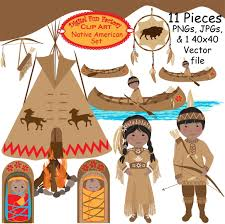 thanksgiving indian clipart 23