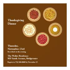 thanksgiving dinner invitations announcements zazzle