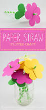 paper straw flowers flower crafts fireflies and pies