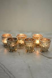 mercury tea light holders mercury glass votive candle holders