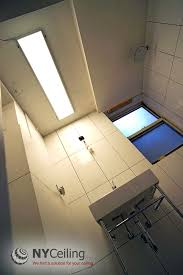 nyceiling inc portfolio bathroom glossy stretch ceiling
