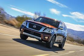 nissan frontier off road bumper 2017 nissan armada takes on the toyota land cruiser
