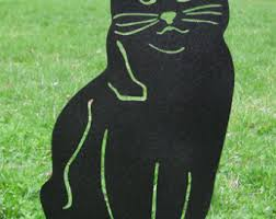 Cat Garden Decor Tuxedo Cat Garden Stake Or Wall Hanging Memorial Black And