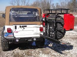 jeep yj rear bumper 1987 1995 yj signature series rear bumper and tire carrier rear