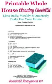 how to keep your house clean printable whole house cleaning checklist how to keep your home