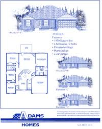 Custom Floor Plans For New Homes by On Your Lot In Palm Coast Adams Homes