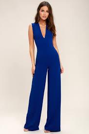 royal blue jumpsuit chic royal blue jumpsuit backless jumpsuit sleeveless jumpsuit