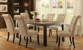 Transitional Dining Room Furniture Ivory Dining Room Chairs Elmerson Tufted Ivory Linen Dining Chair