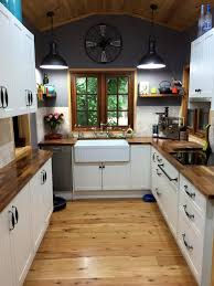 Country Kitchen With Timber Bench Top And Belfast Sink Httpwww - Kitchen with belfast sink