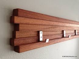 recycled golf club coat rack wooden wall mounted hook via etsy 15 super cool diy coat rack projects worth following