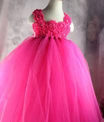 pink flower baby tutu dress for baby kids toddler