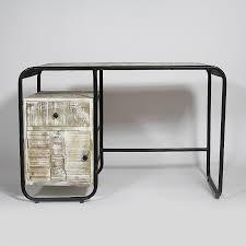 bureau industriel bois et metal bureau industriel vintage bois métal noir made in meubles
