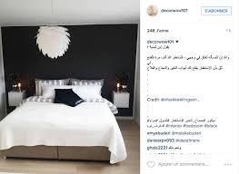 chambre avec lit noir chambre avec lit noir 3 instagram inspiration d233co pour la