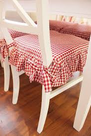 kitchen chair seat covers pretty and white gingham check kitchen chair cushions