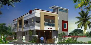 Independent House Exterior Designs in Arumbakkam Chennai Aamphaa