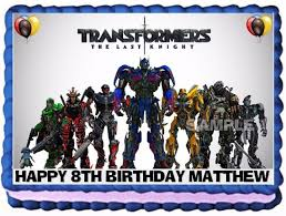 eBlueJay TRANSFORMERS CAKE TOPPER EDIBLE BIRTHDAY DECORATION
