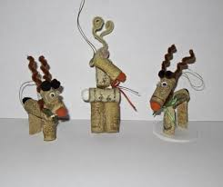 wine cork ornament rudolph the reindeer the artful crafter