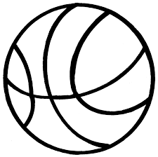 line clipart basketball pencil and in color line clipart basketball