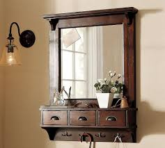 Bathroom Shelf With Mirror Lifeestyle Dressing Mirror With Hooks And 3 Storage Drawers