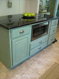 kitchen island makeover duck egg blue chalk paint artsy