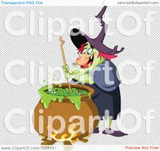 halloween coldren background clipart ugly witch stirring brew in a cauldron royalty free