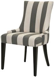 furniture modern fabric dining chairs grey and bone stripe becca