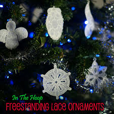 in the hoop lace christmas ornament mega pack embroidery super deal