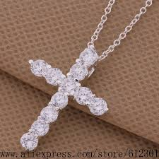 silver necklace cheap images Cheap silver plated necklace silver fashion jewelry pendant cross jpg