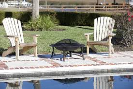 Fire Sense Patio Heater Reviews by Fire Sense Bronze Painted Roman Fire Pit With Spark Screen Review