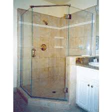 3 8 glass shower door neo angle shower 3 8 thick clear glass semi frameless brushed