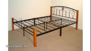 Bed Steel Frame Metal Frame King Plus Steel Base Platform Slats
