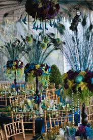 Feather And Flower Centerpieces by Best 25 Peacock Centerpieces Ideas On Pinterest Peacock Theme