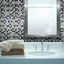 modern bathroom design with gray smart tiles high gloss mosaic