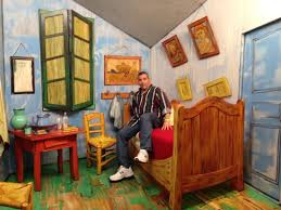 van gogh bedroom painting van gogh s bedroom by seward johnson picture of grounds for