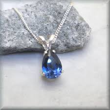 jewelry blue sapphire necklace images Blue sapphire necklace pear shape teardrop gemstone necklace jpg