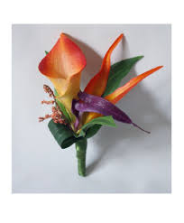 corsage flowers boutonniere or corsage bird of paradise real touch flowers