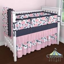 hunting baby crib bedding for in pink turquoise navy blue