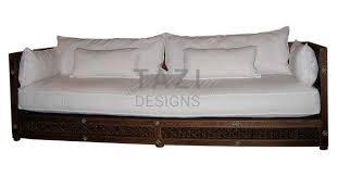 moroccan sofa u2013 bone inlay and white cotton slip covers u2013 tazi designs
