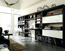 bureau bibliothèque intégré home office style bibliotheque bureau integre mural ha 1 4 ii