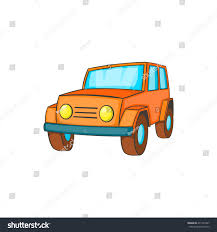 orange jeep orange jeep icon cartoon style on stock vector 471261827