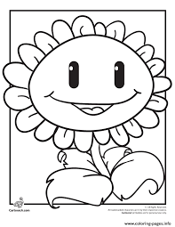 plant smile plants zombies coloring pages printable