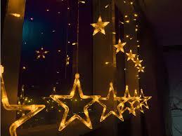 christmas light decoration company outdoor 138 led curtain star string fairy light christmas window