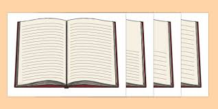 open book with lines writing template open book writing