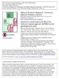 antiproliferative constituents of abutilon indicum leaves against