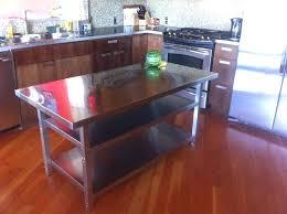 kitchen island stainless steel stainless steel kitchen island on wheels pixelkitchen co