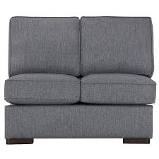 Cuddler Sofa Sectional City Furniture Austin Blue Fabric Dual Cuddler Sectional