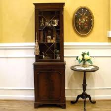 small curio cabinet with glass doors small curio cabinet pretty looking small curio cabinet console
